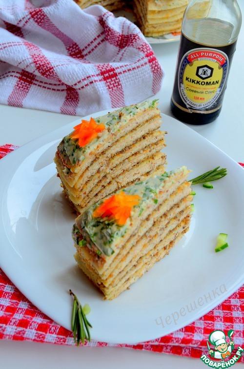 Торт с грибами – кулинарный рецепт