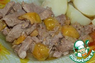 Рецепт: Свинина тушеная с японской айвой
