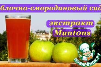 Рецепт: Яблочно-смородиновый сидр