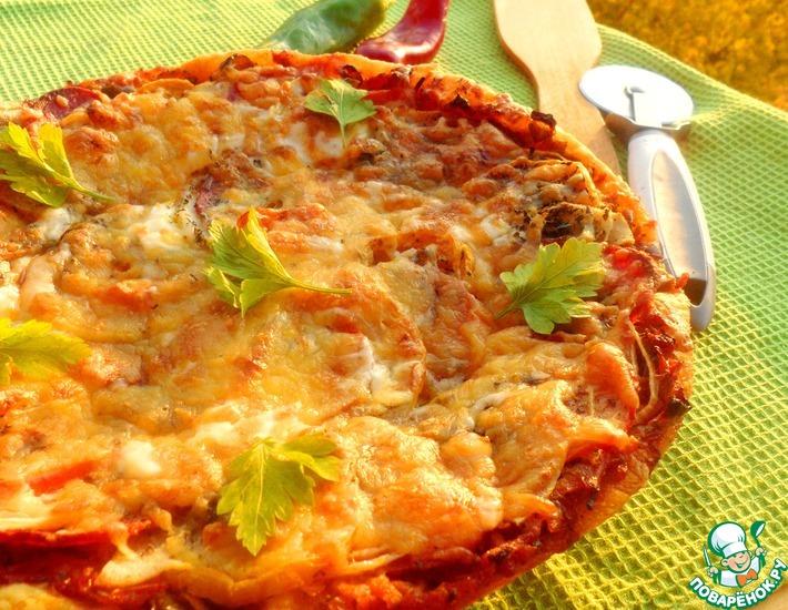 Рецепт: Пицца с осенней грушей