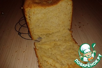 Рецепт: Хлеб с пшёнными хлопьями