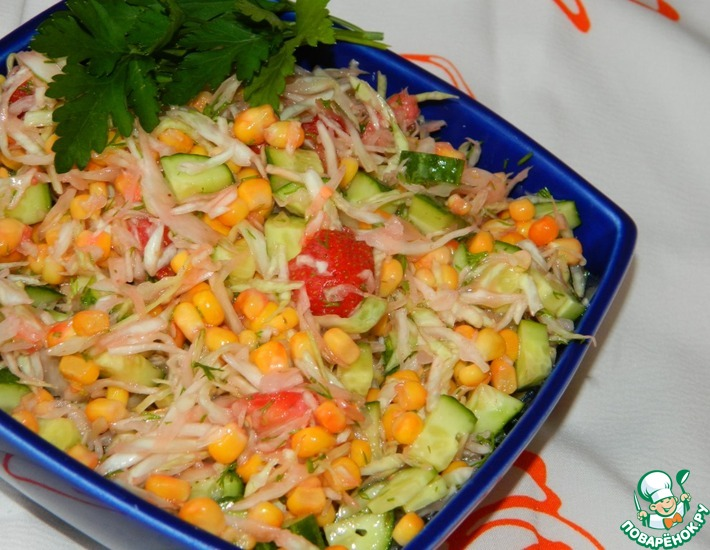 Рецепт: Салат Цветной