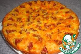 Рецепт: Сырный пирог с тыквой и инжиром