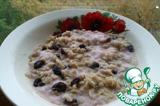 Рецепт: Овсяная каша с йогуртом