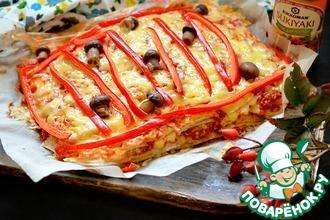 Рецепт: Пицца-торт закусочный