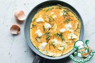 Рецепт: Кабачок с сыром фета и мятой