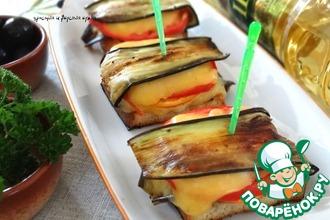 Рецепт: Закусочные бутерброды с баклажаном