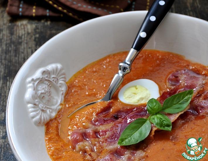 Рецепт: Тыквенный суп-пюре с брусникой