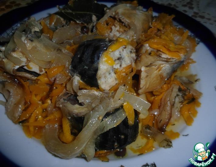 Рецепт: Скумбрия, запеченная в горшочке