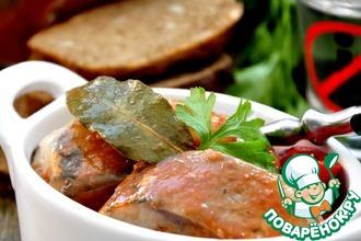 Рецепт: Сельдь, маринованная в пряном томатном соке