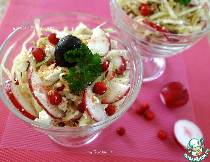 Рецепт: Салат из белокочанной капусты Витаминный
