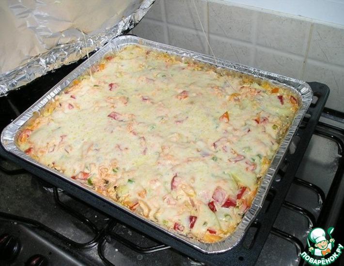Рецепт: Мясо запеченное с консервированными грибами