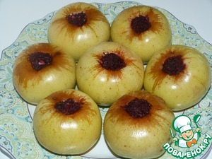 Apples stuffed with beets (in convection oven)