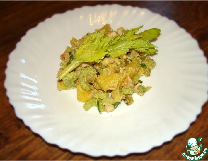 Рецепт: Картофельный салат с копчёной курицей