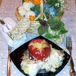 Перцы фаршированные в сковороде
