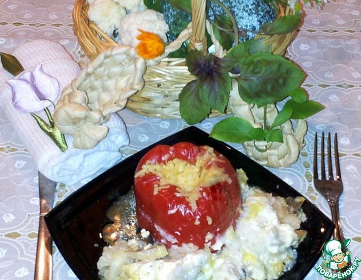 Рецепт: Перцы фаршированные в сковороде