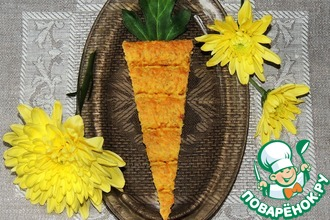 Рецепт: Полезные коржики Морковки к завтраку
