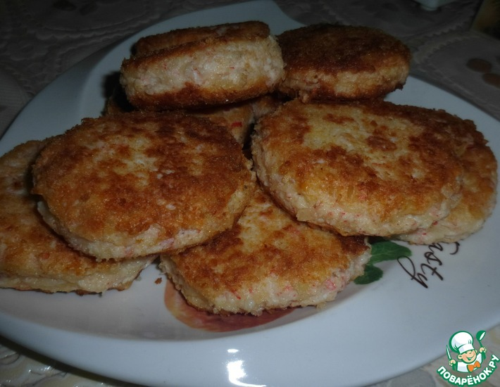 Рецепт: Крабово-сырные котлетки