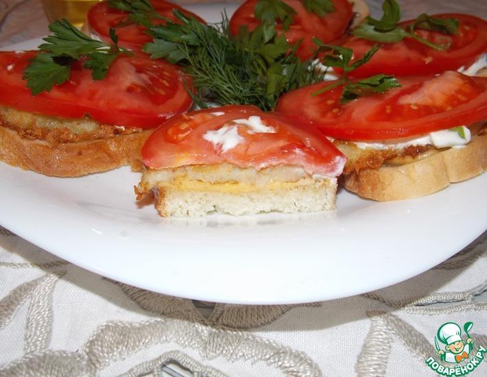Рецепт: Теплый бутерброд с драниками и сыром