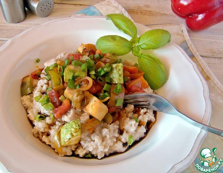 Рецепт: Овсяная каша с овощами