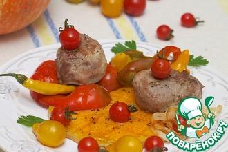 Рецепт: Сезонные овощи-гриль с мясом