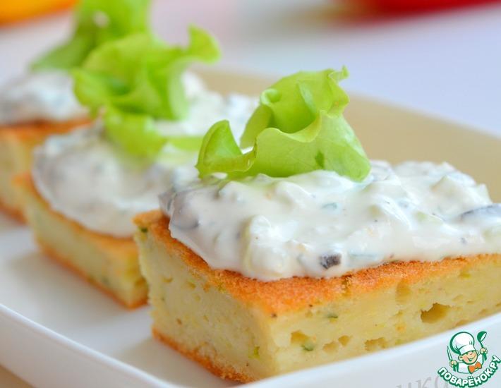Рецепт: Кабачковый торт с козьим сыром