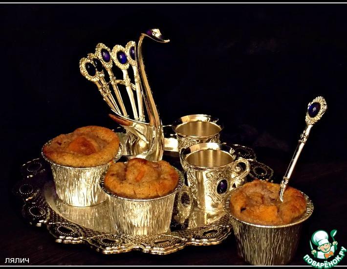 Рецепт: Персиковый десерт с хлопьями