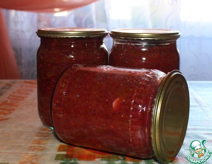 Рецепт: Икра из зелёных помидоров