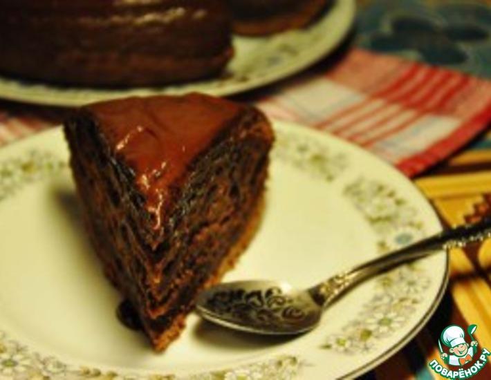 Рецепт: Очень шоколадный пирог Сумасшедший пирог