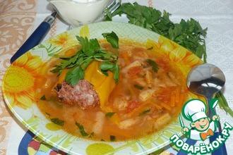 Рецепт: Суп с фаршированным перцем