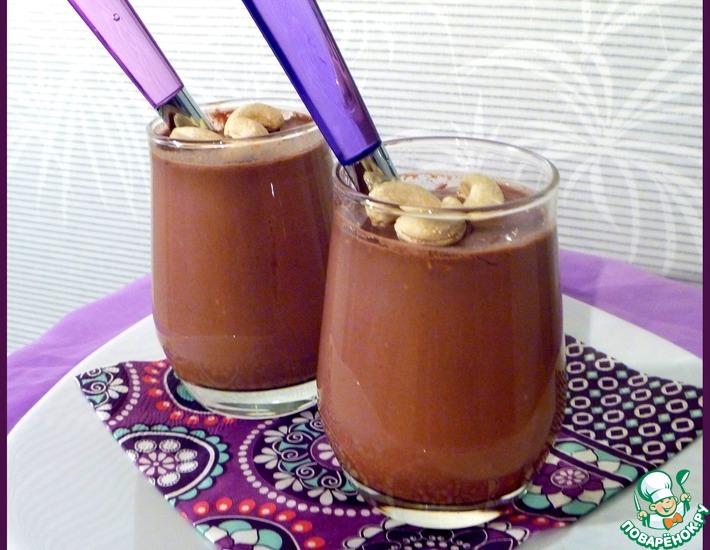 Рецепт: Йогурт шоколадный с орешками
