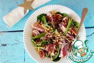 Рецепт: Салат с инжиром и ветчиной