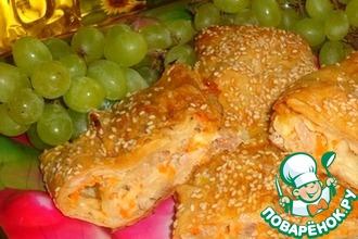 Рецепт: Фаршированный лаваш с курицей и виноградом Осенняя изюминка