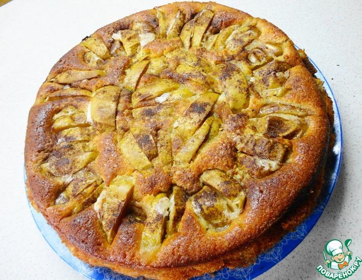 Рецепт: Пирог Румяные яблочки
