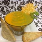 Крем-пюре Осенняя акварель с сырными тостами