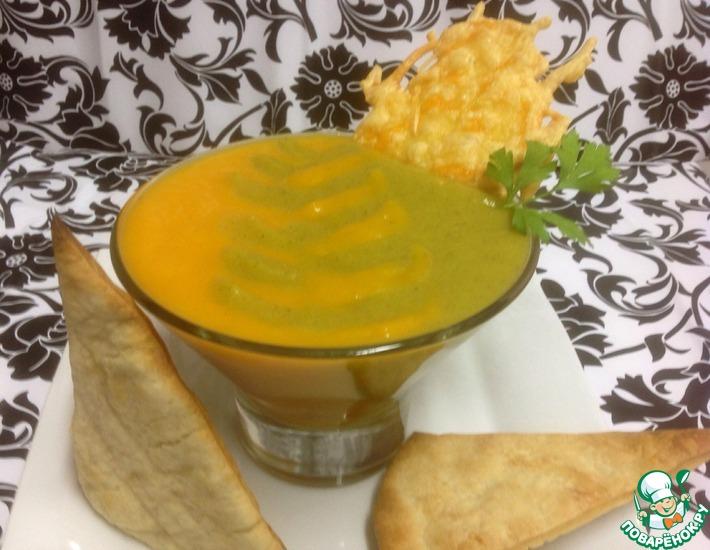 Рецепт: Крем-пюре Осенняя акварель с сырными тостами