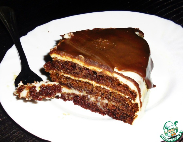 Рецепт: Торт на кипятке