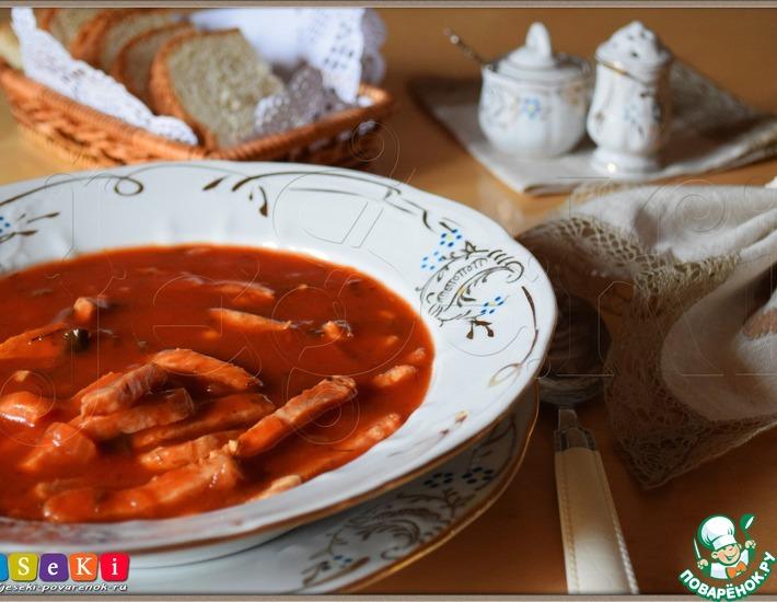 Рецепт: Томатный суп Самый быстрый