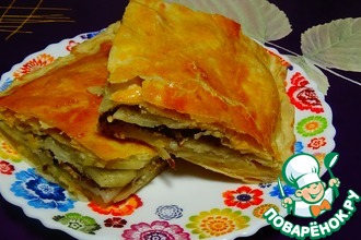 Рецепт: Пирог с рыбными консервами