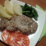 Эскалоп из свинины в сметанном соусе
