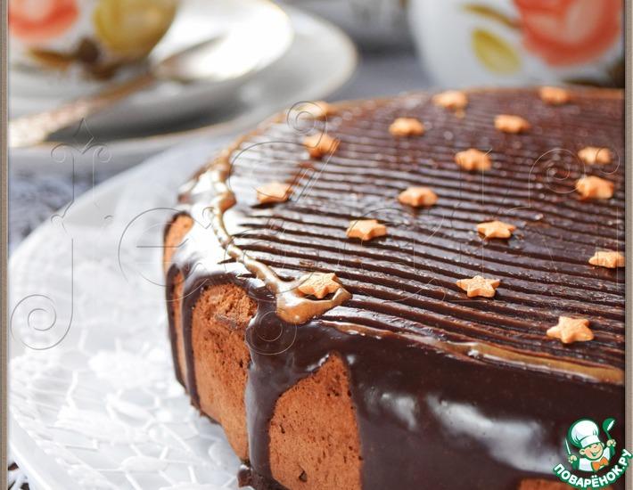 Рецепт: Шоколадный пирог Пища ангелов в мультиварке