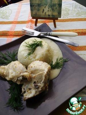 Рецепт Курица отварная в пряном соусе