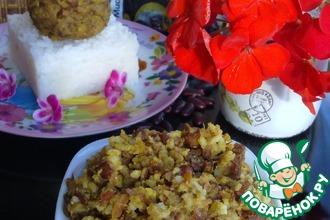 Рецепт: Закуска из фасоли с рисом