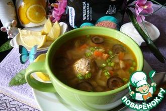 Рецепт: Суп а-ля солянка с чечевицей