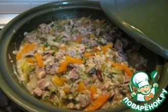 Рецепт: Куриные желудки в тажине