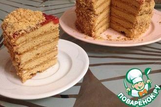 Рецепт: Медовый торт Рыжик