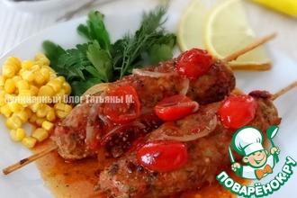Рецепт: Кебаб на сковороде с ароматной подливой