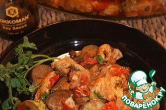 Рецепт: Сочное куриное филе с овощами