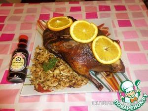 Рецепт Фаршированая утка с капустой