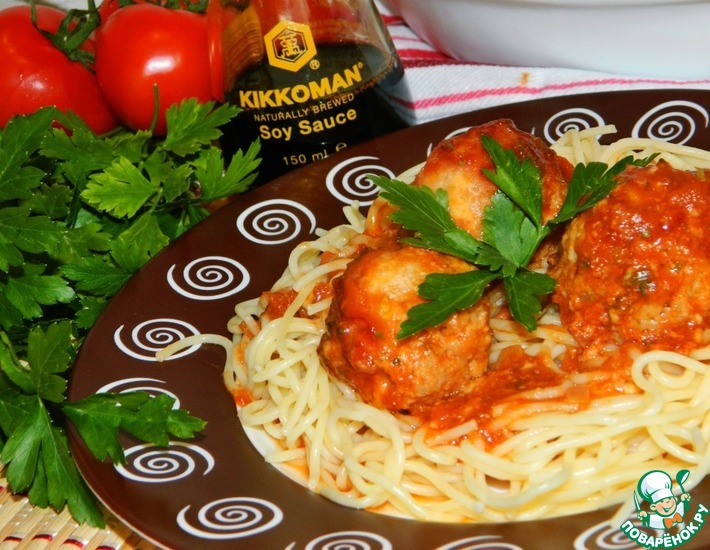 Рецепт: Митболы в томатно-соевом соусе